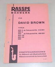 Teilekatalog Rasspe Mähwerk für David Brown Schlepper Stand 03/1965