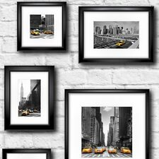 Muriva Manhattan in Frame Feature Wallpaper Black / Yellow / White City Photo