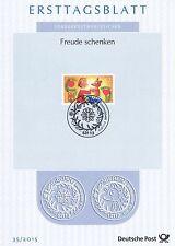 BRD 2015: Freude schenken! Ersttagsblatt der Nr. 3185 mit Bonner Stempel! 1607