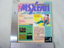 MSX FAN + 2 DISK 1995/4 Book Magazine RARE Retro ASCII