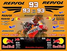 MINI MOTO 2015 MOTO GP Repsol MARK Marquez decalcomania adesivi grafici KIT Bin