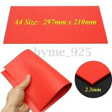 A4 Size 2.3mm Orange Rubber Stamp Sheet Plate Mat for Laser Engraving Machine