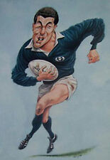 GAVIN HASTINGS, SCOTLAND RUGBY PRINT by JOHN IRELAND