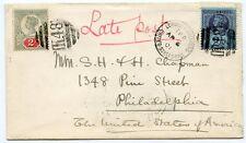 """1901 2d +2 ½ D Cvr a Estados Unidos atado K48 """" London & Holyhead t.p.o. Estados Unidos de correo """""""