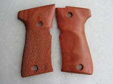 New Beretta model 92 compact grips, Haft checkered& Finger grove Ship from Thai