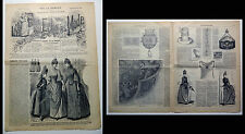 moda femminile _ LE PETIT ECHO DE LA MODE _ 6 MAI 1888 _ JOURNAL _ antiquariato