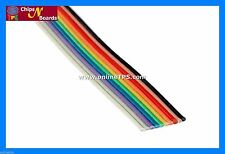 5 mt 10Core Rainbow Wire Ribbon Flat Cable Strip for Repairing,Soldering Circuit