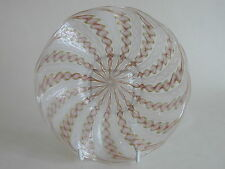 Vintage Murano Zanfirico Lattice Aventurine wave glass plate with gold inclusion