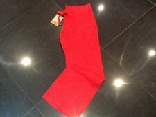 NWT Juicy Couture New & Gen. Ladies Small Red Wide Leg Linen Trousers UK 8/10