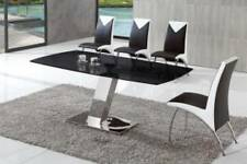 Rayo Extending Black Glass Dining Table ONLY