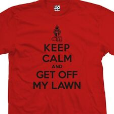 Keep Calm and Get Off My Lawn T-Shirt - Adult Gun Old Man Kids - All Size Colors