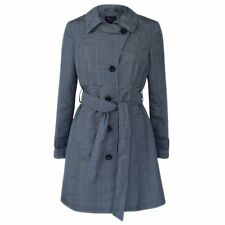 New M&S Womens grey Prince Of wales Trench Mac rain coat size 12 RRP £59