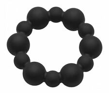 Master Series 40mm Black Shadow Silicone Beaded C&B Ring/Penis Ring NEW !!!