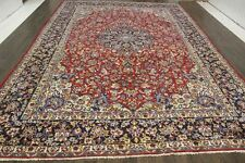 Traditional Vintage Persian Wool  9.6 X 14 Handmade Rugs Oriental Rug Carpet