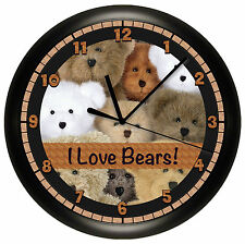 STUFFED BEARS WALL CLOCK TEDDY BEAR ANIMAL KIDS ROOM