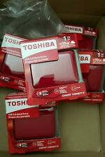 New Toshiba 1TB Canvio Connect II Portable Hard Drive (Red)