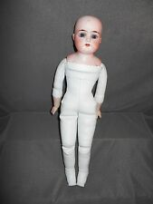 """12"""" Leather body with Porcelain Head/Arms,  Total 13"""", Body in Nice Condition"""