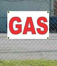 2x3 GAS Red & White Banner Sign NEW Discount Size & Price FREE SHIP