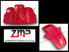 NEW HONDA 85 - 86 ATC 250R FIGHTING RED PLASTIC FRONT AND REAR FENDER SET