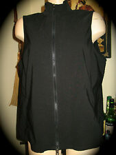 Venezia Jeans BLACK SHIMMER STRETCH ZIP-UP VEST SLEEK LINES 14/16