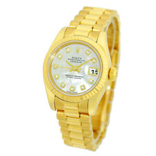ROLEX 18K Yellow Gold President 179178 Factory Mother Pearl Diamond Box Warranty