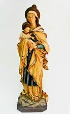 VINTAGE ST. MARY STAR OF THE SEA CHALKWARE FIGURINE BLESSED MOTHER STATUE  ITALY