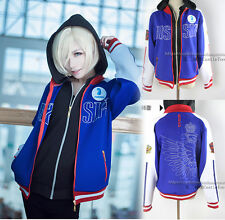 Anime YURI!on ICE Katsuki Zipper Unisex Jacket Coat Cosplay Sweatshirt#84-U106
