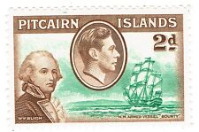 "1940 Pitcairn Islands - King George VI - Scenes from Mutiny ""Bounty"" - 2 d"