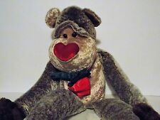 "WALMART MONKEY WITH A ROSE AND I LOVE YOU ON THE TUMMY 24"" LONG"