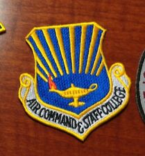 USAF FLIGHT SUIT PATCH, AIR COMMAND AND STAFF COLLEGE, DARK BLUE