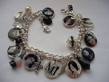 Michael Jackson Memorial new Photo charm bracelet. special memory  gift rare MJ