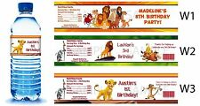 The Lion King Movie Printed Water Bottle Labels ~ Birthday Party Favors Supplies