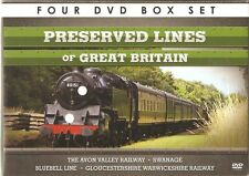 PRESERVED LINES OF GREAT BRITAIN - Avon Bluebell Gloucester Railways - 4 DVDs