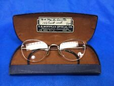 Vintage SHURON USA Mid Century Pin Up Frameless Cat Eyeglass 12k Gold Filled