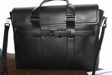 SALVATORE FERRAGAMO PRINCIPE CARRYALL 249708 BLACK $2400 MESSENGER/SHOULDER BAG