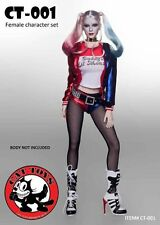 """CAT TOYS 1/6 Suicide Squad Joker Harley Quinn Clothes & Head F 12"""" Body CT-001"""