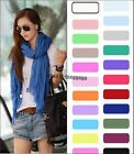 Hot New Girls Womens Pure Candy Long Crinkle Soft Scarf Wrap Voile Wraps Shawl
