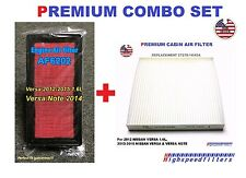 AF6202 Air Filter + Cabin Air Filter COMBO set for 2012 - 16 NISSAN VERSA & NOTE