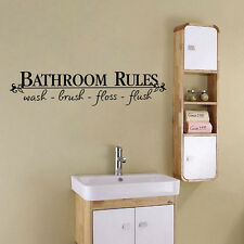 Hot Bathroom Rules Quote Removable Wall Sticker Art Vinyl Decal Room Mural Decor