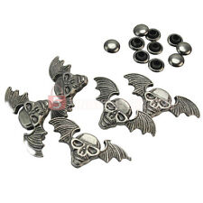 5 Pcs Fashion Retro Copper Skull Wing Rivets Studs For Shoes Bag Clothes Craft