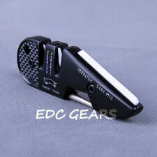 4 in 1 EDC Sharpener Grindstone Serrated Ceramic Carbide V Diamond Tapered Cone