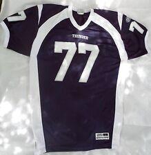 GTA Game Tuff Athletic Shirt Size Large Navy Blue White Thunder  77