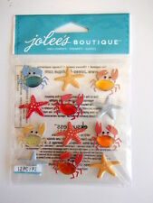 Jolee's Boutique 3D stickers - Crabs & Starfish Repeats - beach holiday