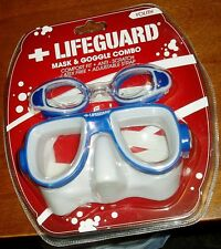 Lifeguard Mask & Goggle combo Youth size new in blisterpack latex free