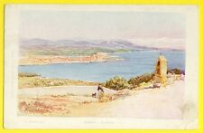 cpa 06 - ANTIBES (Alpes Maritimes) Le GOLFE Illustration Litho Signé E. LESSIEUX