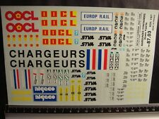 DECALS TRAIN 1/87 MARQUAGES CONTAINERS DIVERS PART 1 - CARPENA  8703