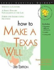 """How to Make a Texas Will, 3E"" (Legal Survival Guides)"