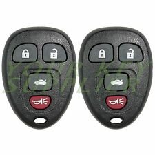 2 New Replacement 4 Button Keyless Remote Key Fob for GM 22733523
