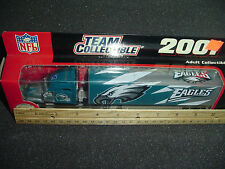 AS IS PHILADELPHIA EAGLES NFL Football tractor Trailer TRUCK 2001 Rare Green NIB