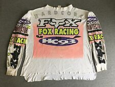 Fox Racing Jersey Shirt 90s Vtg Hardcore Motocross Moto-X Dirt Bike USA Men XL